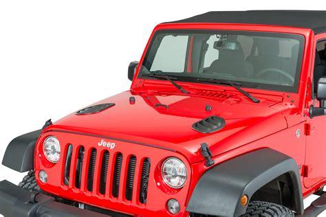 jeep vented hood daystar kj71048bk hood vents for 07 18 jeep wrangler