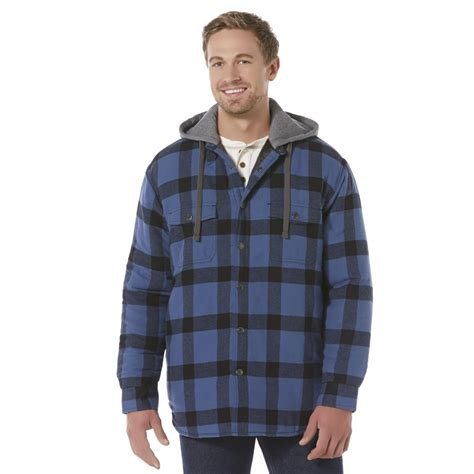 Flannel Fila flannel shirt jacket quilted lining new s moose creek