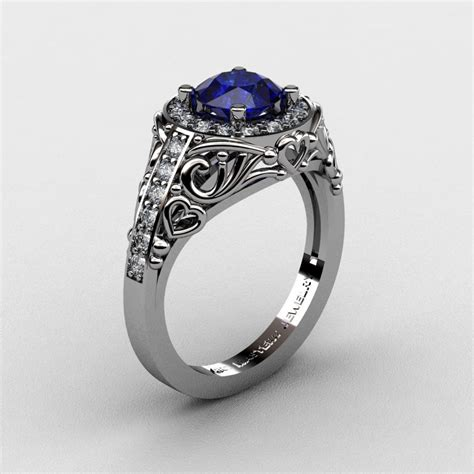 italian 950 platinum 1 0 ct blue sapphire