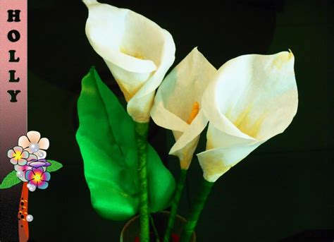 How To Make Lilies Out Of Paper - how to make paper flowers calla easy and