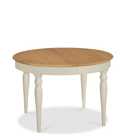 hstead soft grey and oak small extending dining table