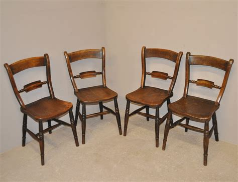 Kitchen Set 4 Chairs by Set Of 4 Barback Kitchen Chairs Q3307 Antiques Atlas