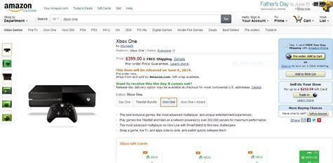 amazon xbox one where to buy pre order the 399 xbox one