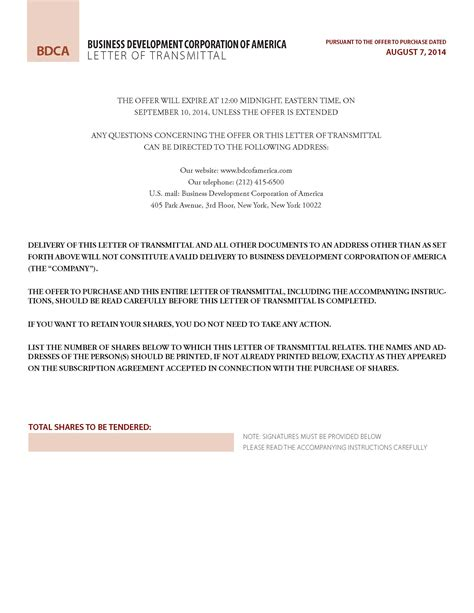 transmittal template word cover letter example