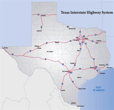 hwy map of texas interstate highways in texas