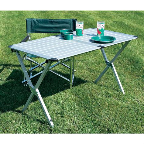 aluminum roll up table roll up aluminum table 129630 patio furniture at