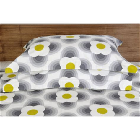 Ben And Holly Duvet Set Orla Kiely Stripe Petal Print Oxford Pillowcase Pebble