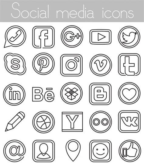 imagenes de redes sociales blanco y negro facebook fotos y vectores gratis