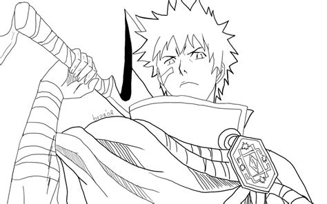 free bleach ichigo white coloring pages