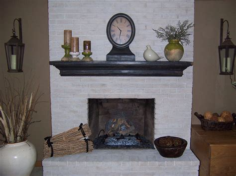 White Brick Fireplace Makeover   Fireplace Designs