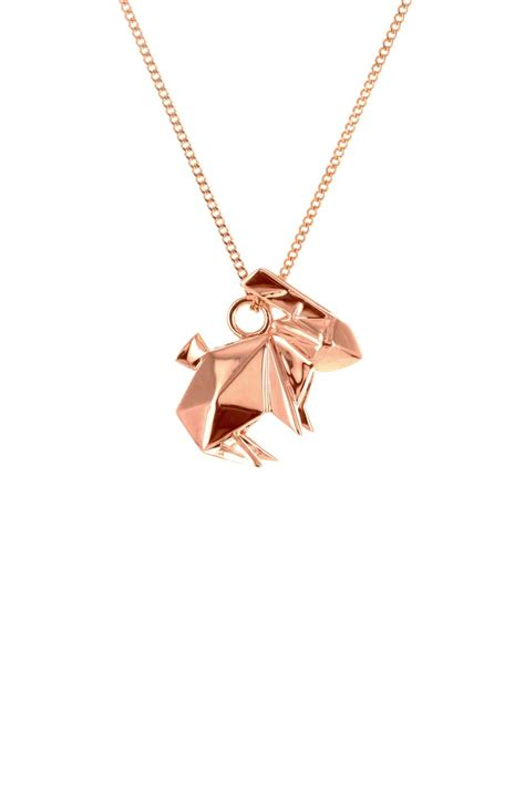 Origami Rabbit Necklace - origami jewelry necklace rabbit from by