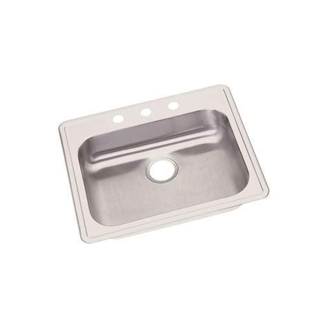 elkay ge dayton stainless steel single bowl top mount