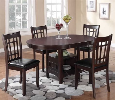 oval dining table for 4 chicago furniture warehouse for oval dining set with