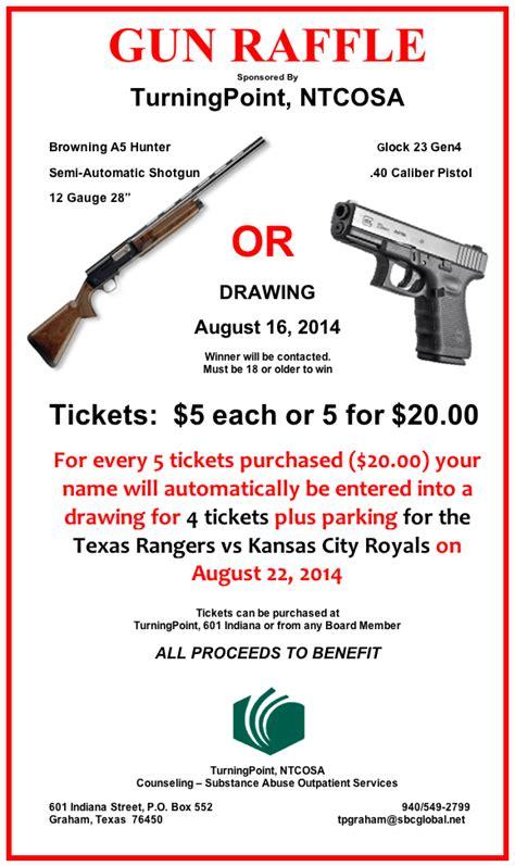 Turning Point 2014 Gun Raffle Gun Raffle Ticket Template