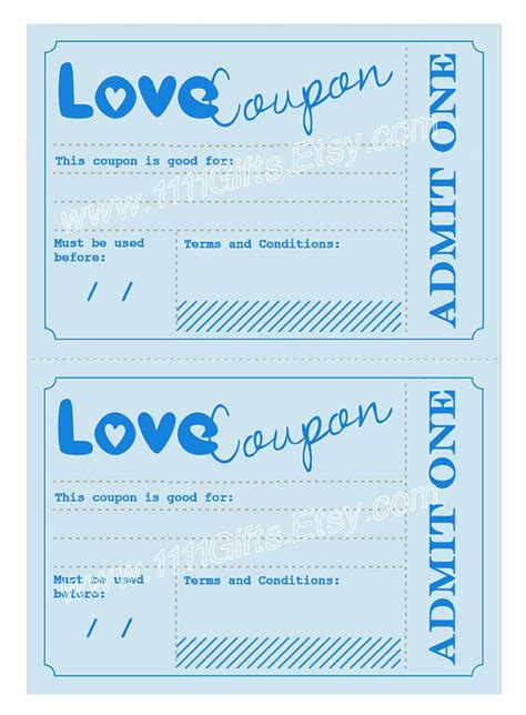 printable romantic love coupons printable love birthday cards for him
