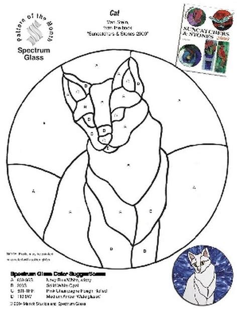 free patterns in stained glass free stained glass pattern 2219 cat patterns by