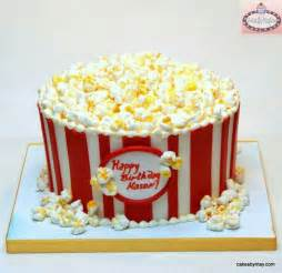 a bucket full of popcorn cake cakes pinterest