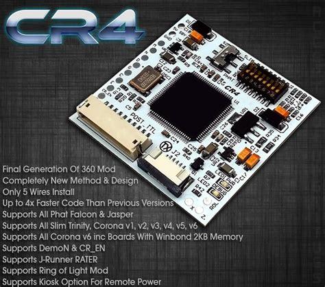 modchip console xecuter cr4 xl rgh jtag slim and usa canada
