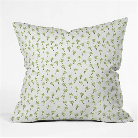 Pretty Pillow by Pretty Palm Trees Throw Pillow Forest