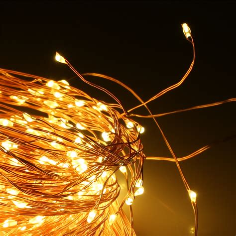 starry string lights on copper wire 360 led copper wire lights 30 ledx12 string starry warm