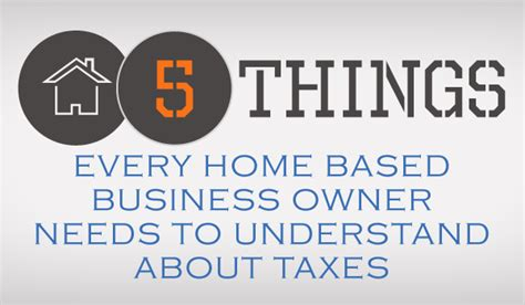 things every home needs 5 things every home based business owner needs to understand about taxes taxbot