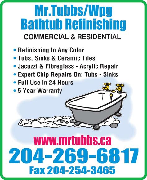 mr bathtub mr tubbs wpg bathtub refinishing ltd winnipeg mb 81