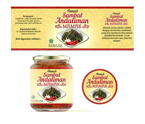 desain label produk makanan galeri desain label untuk produk sambal andaliman quot mamak quot