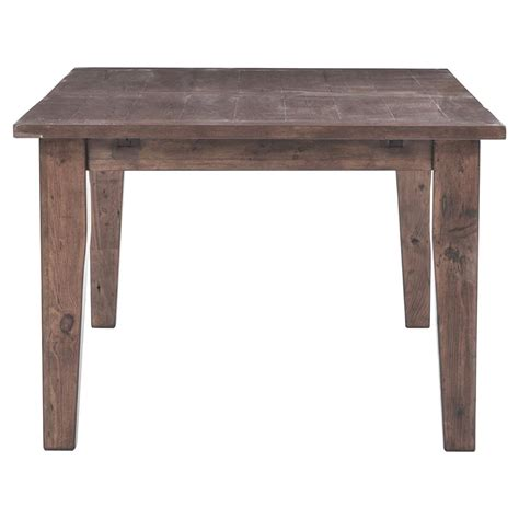 Rustic Farmhouse Dining Tables Abram Rustic Lodge Wood Farmhouse Adjustable Dining Table Kathy Kuo Home
