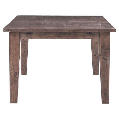 Abram Rustic Lodge Wood Farmhouse Adjustable Dining Table Wood Farmhouse Dining Table