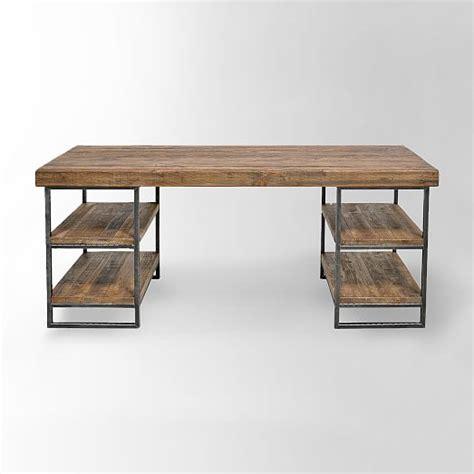 hewn wood desk west elm