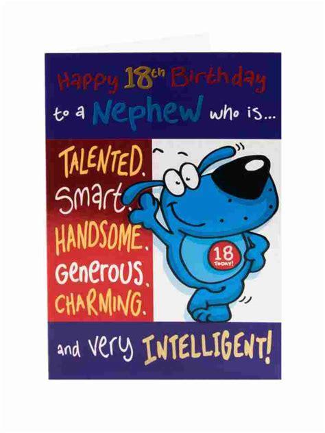 Happy 18 Birthday Wishes For Nephew Happy 18th Birthday Card For Nephew Clintons
