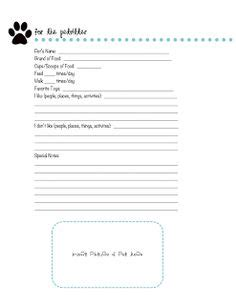 free printable pet report card template grooming client cards