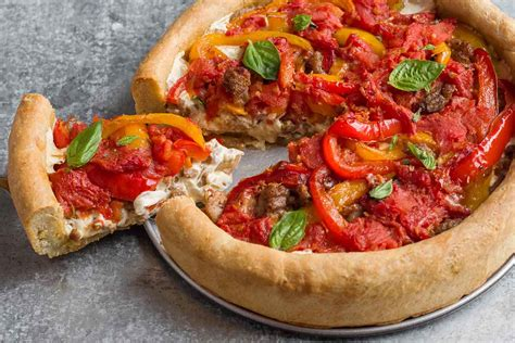 chicago recipe chicago style dish pizza recipe king arthur flour