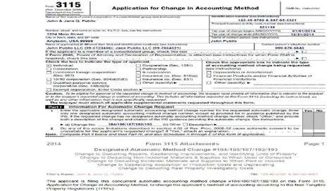 section 481 adjustment faq forms 3115 and the new tangible property regulations