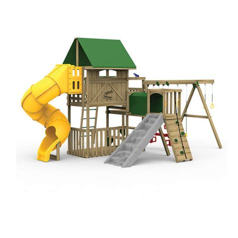 menards swing set accessories playstar great escape gold factory built playset at menards 174
