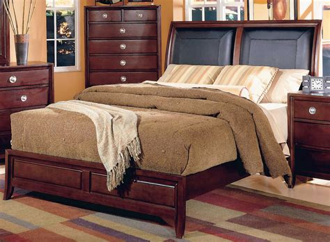 Sleigh Bed With Leather Headboard homelegance capria sleigh bed leather headboard 878ll 1
