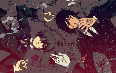 Kaos Anime Seal Black kuroshitsuji black butler toboso yana wallpaper 304109 zerochan anime image board