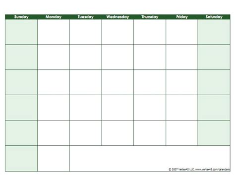 17 best ideas about printable blank calendar on pinterest