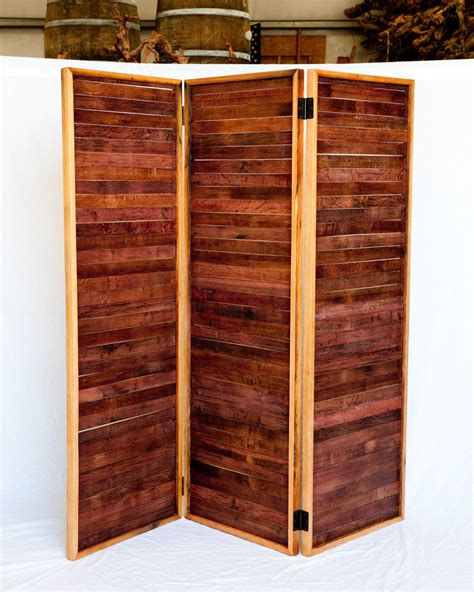 Reclaimed Wood Room Divider Wine Barrel Room Divider Screens Made From Reclaimed Wine