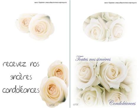carte condoleances imprimer gratuite cartes de voeux a
