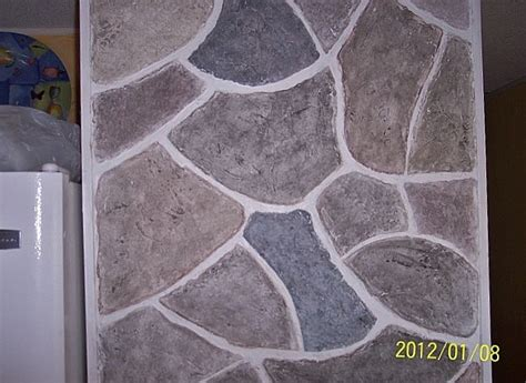 how to paint faux rock wall faux wall from joint compound compound wall