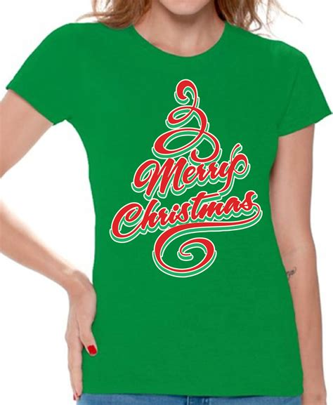 merry christmas tree christmas shirt  women xmas gift   awkwardstyles