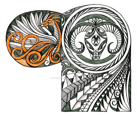 polynesian style tattoo black polynesian design on leg