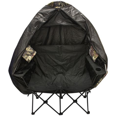 nitehawk camouflage portable 2 person folding hunting tent