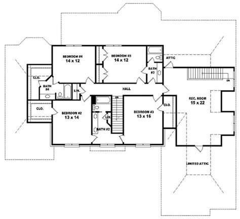 5 bedroom floor plans 2 story 654033 two story 5 bedroom 4 5 bath traditional