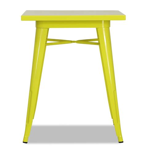 Yellow Bistro Table Tolia Metal Bistro Table In Yellow Dining Tables Dining Room Furniture Furniture Home