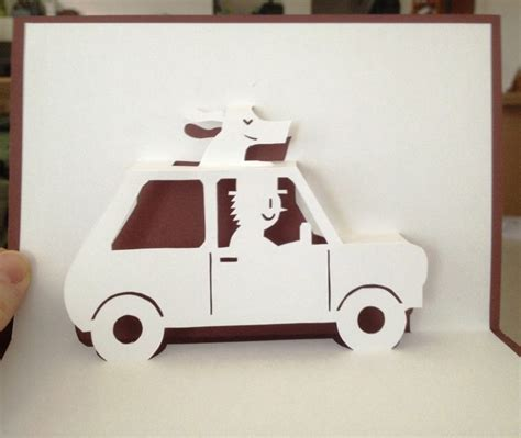 Pop Up Car Card Template 318 best ideas about cards pop up on diy