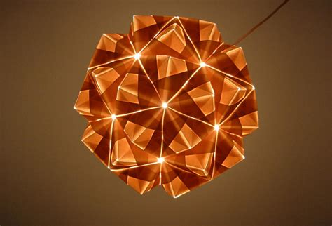 Origami Ls - origami light fixture collapsible papercraft lighting
