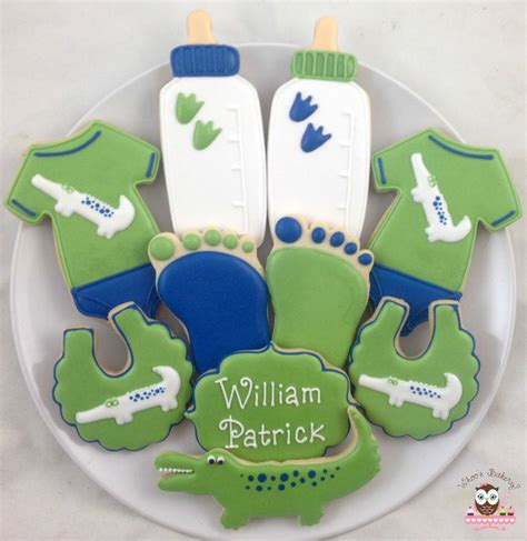 Alligator Baby Shower by Baby Shower Cookies Alligator Baby Shower Cookies