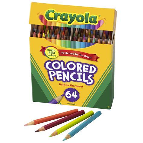 crayola coloring pencils crayola colored pencils 64 count colored pencils bin683364